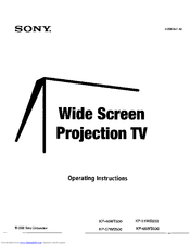 Sony Hi-Scan KP-51WS500 Manuals