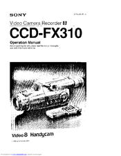 Sony Handycam CCD-FX310 Manuals
