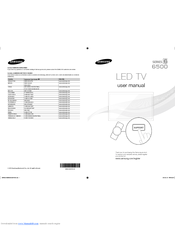Samsung UN55ES6500 Manuals