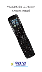 Universal Remote Control MX-890 Manuals