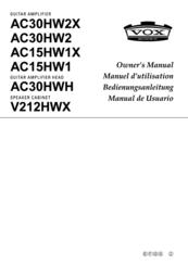 Vox AC30HW2 Manuals
