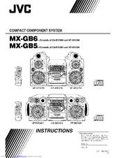 Jvc MX-GB6 Manuals