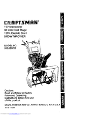 Craftsman 536.886220 Manuals