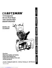 Craftsman 536.886220 Manuals