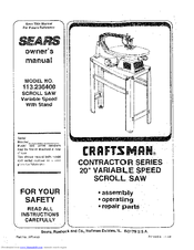 Craftsman 113.236400 Manuals