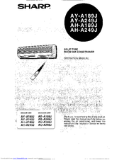 Sharp AE-A249J Manuals