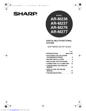 Sharp AR-M277 IMAGERs Manuals