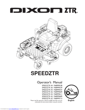 Dixon SPEEDZTR ZTR 42 Manuals