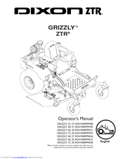 Dixon GRIZZLY 60 Manuals