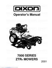 Dixon ZTR 7025 Manuals
