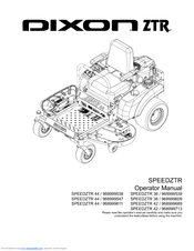 Dixon SPEEDZTR ZTR 36 Manuals