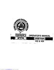 Dixon ZEETER 422 & 424 Manuals