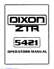 Dixon ZTR 5421 Manuals