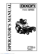 Dixon ZTR 7523 Manuals