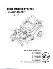 Dixon BLACK BEAR ZTR 44/968999565 Manuals