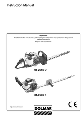 Dolmar HT-2556 D, HT-2576 E Manuals