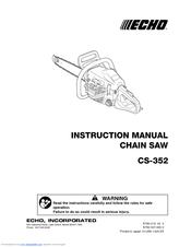 Echo CS-352 Manuals