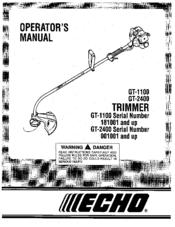 Echo GT-1100 Manuals