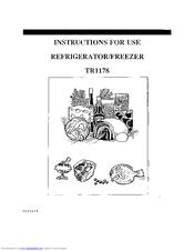 Electrolux TR1178 Manuals