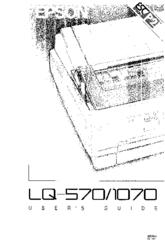 Epson LQ-570+ Manuals