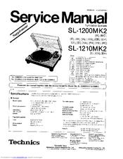 Technics SL-1210MK2 Manuals