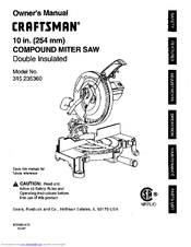 Craftsman 315.235360 Manuals