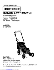 Craftsman 917.378771 Manuals