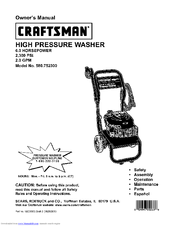 Craftsman 580.752300 Manuals