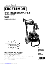 Craftsman 580.752601 Manuals
