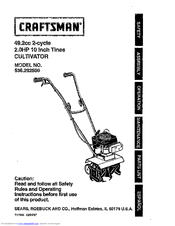 Craftsman 536.292500 Manuals