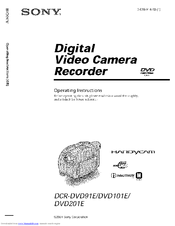 Sony Handycam DCR-DVD91E Manuals