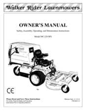 Walker MC (20 HP) Manuals