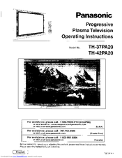 Panasonic Viera TH-42PA20 Manuals