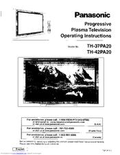 Panasonic Viera TH-42PA20 Manuals