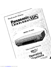 Panasonic Omnivision VHS PV-4564 Manuals
