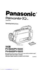 Panasonic Palmcoder IQ PV-IQ525 Manuals