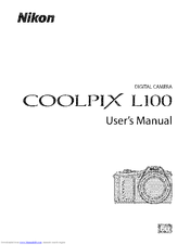 Nikon Coolpix L100 Manuals