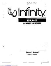 Infinity BU-2 Manuals