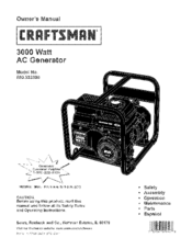 Craftsman 580.323300 Manuals
