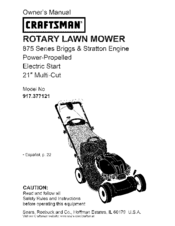 Craftsman 917.377121 Manuals