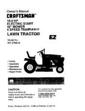 Craftsman 917270810 Manuals