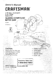 Craftsman 137.285941 Manuals