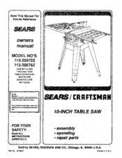 Craftsman 113.298762 Manuals
