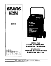 Diehard Battery Charger 71222 Owners Manual free download