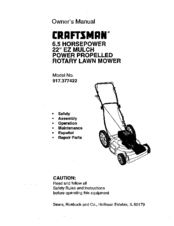 Craftsman 917.377422 Manuals