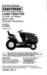 Craftsman 917.28922 Manuals