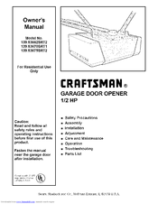 Craftsman 139.53675SRT2 Manuals