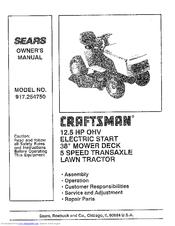 Craftsman 917.254750 Manuals