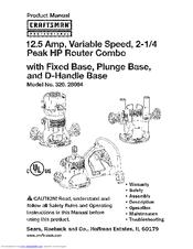 Craftsman 320.28084 Manuals