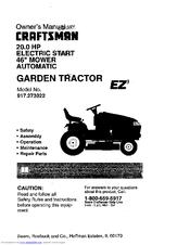 Craftsman EZ3 917.273022 Manuals